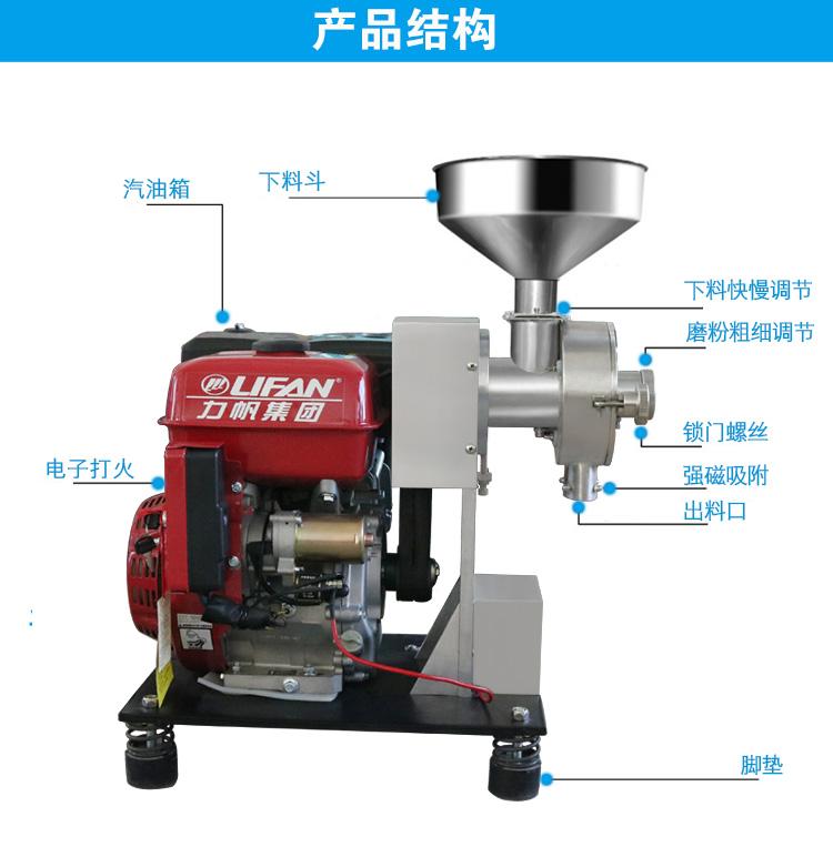 汽油五谷磨粉机结构图